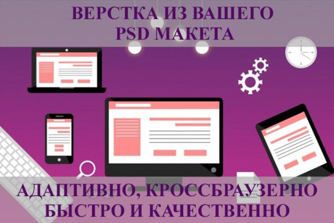 Верстка вашего сайта из PSD макета. Адаптивно и кроссбраузерно 5 - kwork.ru