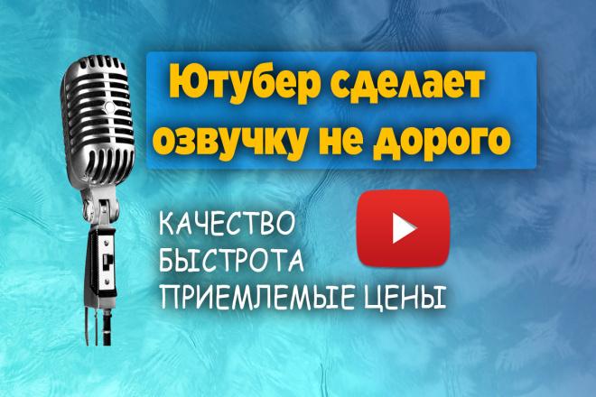 Сделаю озвучку, качественный звук, хорошая дикция, приятный голос 1 - kwork.ru
