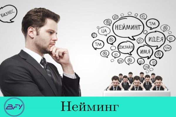Нейминг. Уникальное название фирмы, бренда 1 - kwork.ru