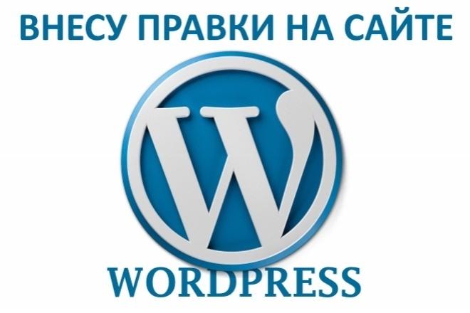 Внесу правки на сайте Wordpress 1 - kwork.ru