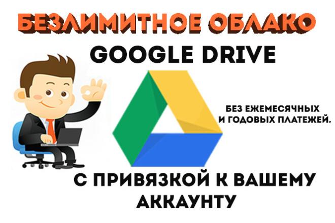 Гугл Диск - неограниченное место в Unlimited Google Drive облако 1 - kwork.ru