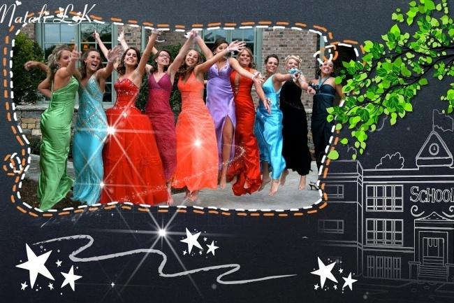 Слайд-шоу для школьных фотографий и для выпускного 1 - kwork.ru
