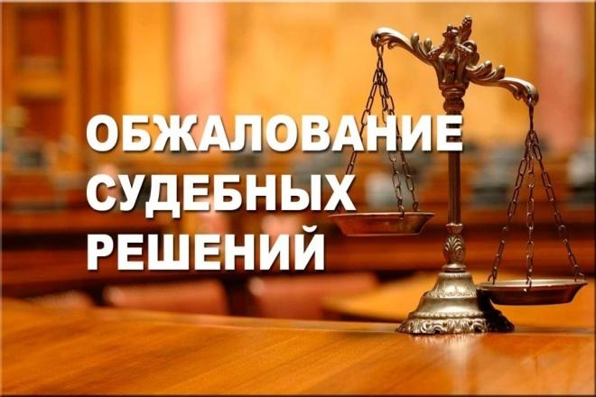 Составление апелляционной и кассационной жалобы на решение суда 1 - kwork.ru