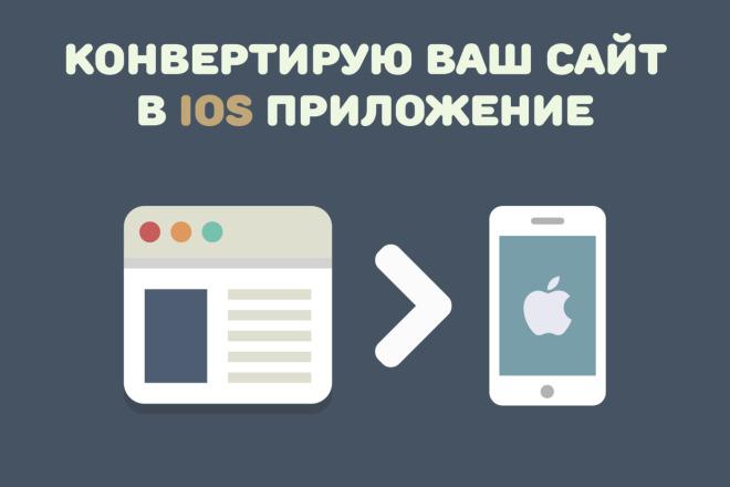 Конвертирую Ваш сайт в удобное iOS приложение фото