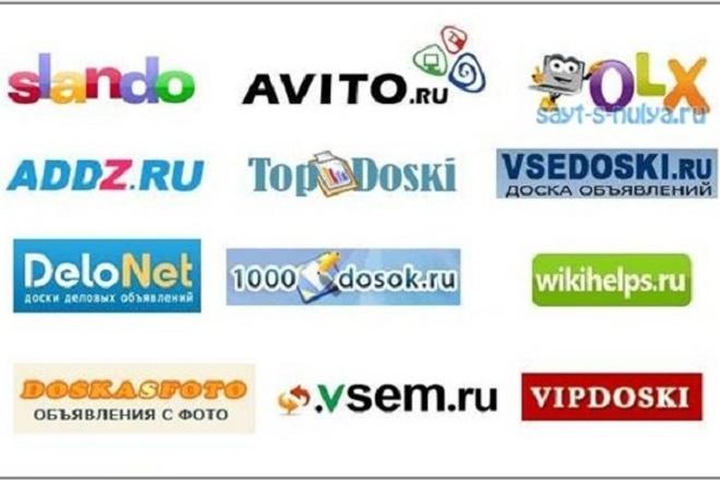 Размещу ваше объявление на 50 популярных досках объявлений России 1 - kwork.ru