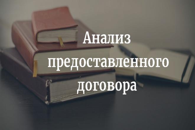 Анализ представленного договора 1 - kwork.ru