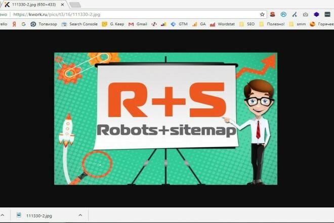 Настрою robots.txt и создам корректный Sitemap.xml 1 - kwork.ru