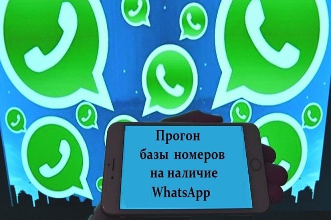 Проверю вашу базу на наличие номеров Whatsapp 1 - kwork.ru