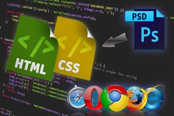 Верстка страницы сайта по PSD-макету в HTML/CSS 1 - kwork.ru