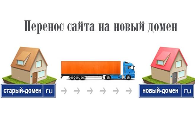 Перенос сайта на новый домен 1 - kwork.ru