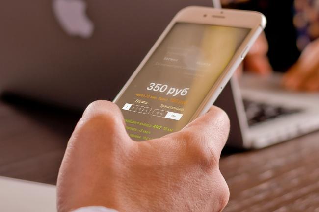 Мобильное приложение для iPhone, 1 экран 3 - kwork.ru