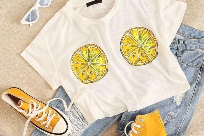 Добавить текст или фото на одежду футболку кофту 4 - kwork.ru