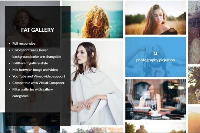 WP - Плагин красивой функциональной галереи FAT Image Gallery 1 - kwork.ru