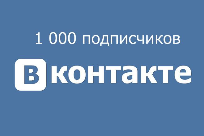 1000 подписчиков Вконтакте качественных и бонус - лайки и репосты 1 - kwork.ru
