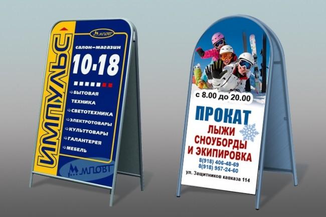 Дизайн наружной рекламы 50 - kwork.ru