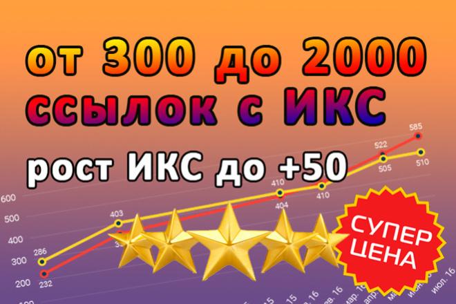Размещу от 300 до 2000 ссылок с ИКС от 10 1 - kwork.ru
