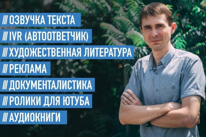 Озвучу ролик, текст, аудиокнигу 1 - kwork.ru
