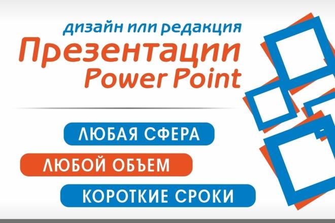 Дизайн или редакция вашей презентации в Power Point 6 - kwork.ru