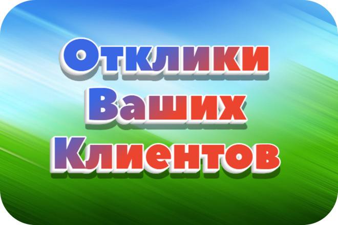 Анализ репутации Вашей компании+советы по работе с репутацией 1 - kwork.ru