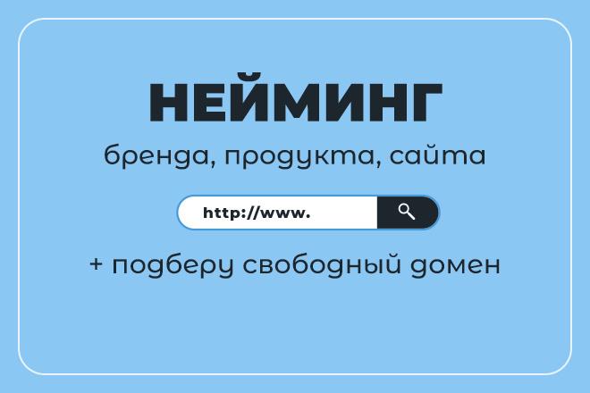 Нейминг 10 вариантов + подбор свободного домена 1 - kwork.ru