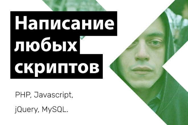 Написание любого PHP, Javascript, jQuery скрипта 1 - kwork.ru