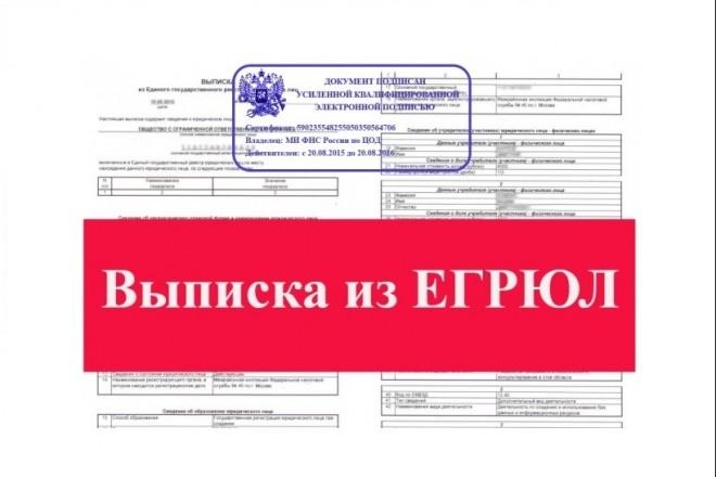Получение выписки егрюл с электронной подписью ЭЦП за 10 минут 1 - kwork.ru