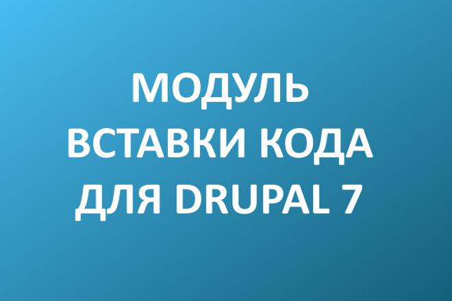 Установлю модуль вставки кода для Drupal 7 1 - kwork.ru
