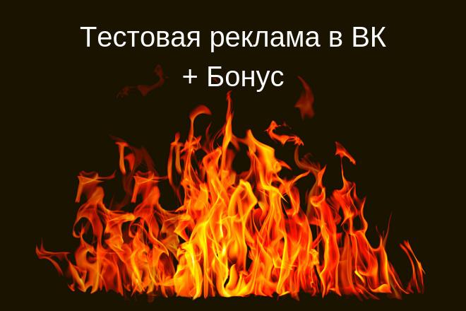 СПЕЦ ЦЕНА - Тестовая Р. К ВК + бонус Аудит рекламируемой площадки 1 - kwork.ru
