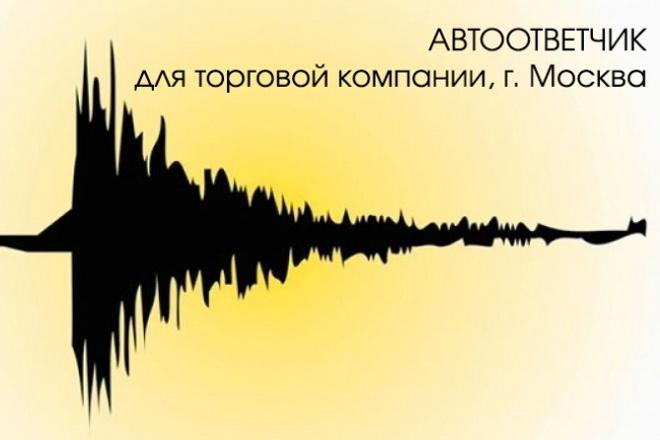 Автоответчик, голосовое меню, IVR 1 - kwork.ru