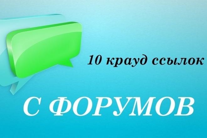 Проставлю крауд-ссылки на автомобильных форумах 1 - kwork.ru