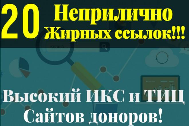 20 неприлично жирных ссылок. Высокие показатели ИКС и ТИЦ 1 - kwork.ru