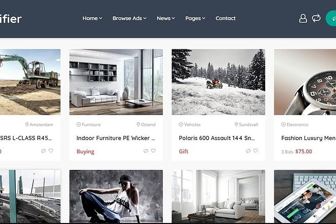 WordPress - Adifier - Доска объявлений 4 - kwork.ru