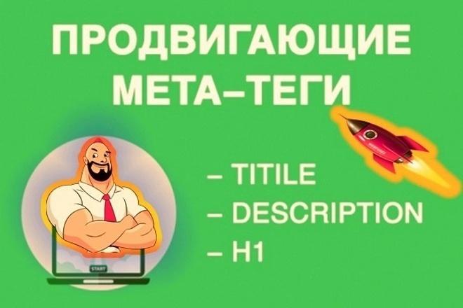 Напишу продвигающие SEO теги Title, Description, H1 для 10 страниц 1 - kwork.ru