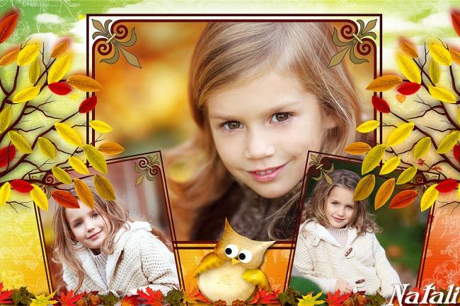 Слайд-шоу для детских фотографий Серенада осенних фей 3 - kwork.ru