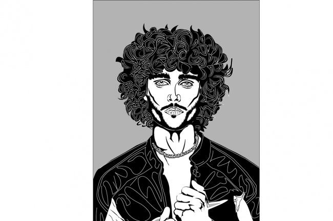 Black Art Портрет 1 - kwork.ru