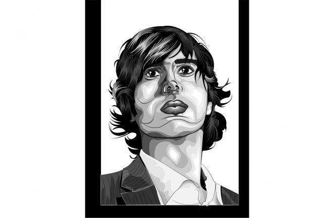 Black Art Портрет 3 - kwork.ru