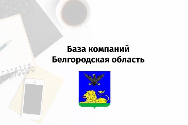 База данных предприятий, компаний и организаций г. Белгород, 2019 1 - kwork.ru