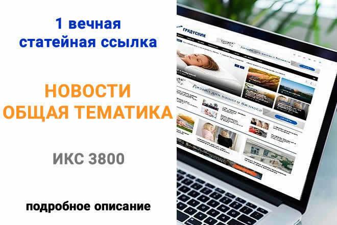 Размещу трастовую ссылку ИКС 3800 1 - kwork.ru