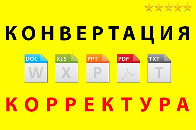 Конвертация PDF в TXT, DOC, XLS, PPT, JPEG, PNG, TIFF. Корректура PDF 1 - kwork.ru