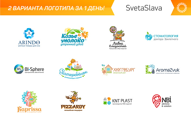 Дизайн логотипов в любом стиле. Фирменный стиль 4 - kwork.ru