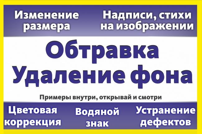 Уберу фон с картинок 40 - kwork.ru