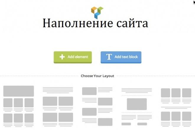 Наполнение сайта. Перенос контента, работаю с Visual Composer 1 - kwork.ru