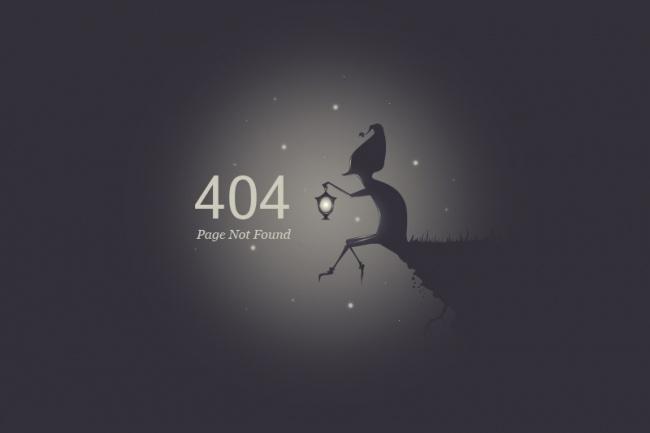 Создам красивую страницу ошибки 404 для сайта 4 - kwork.ru