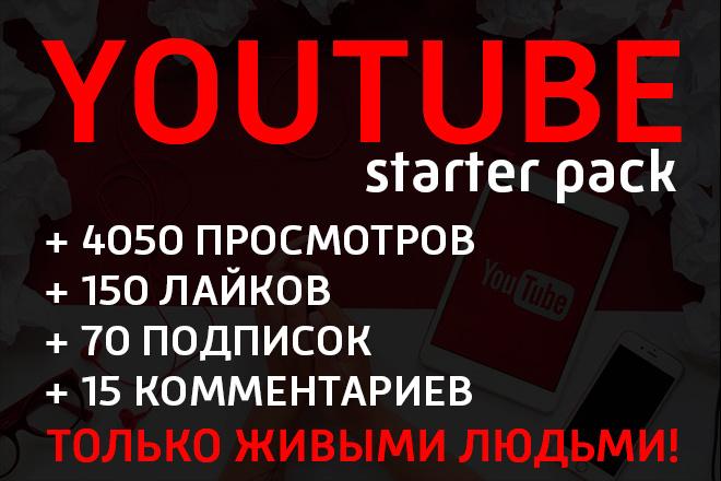 Youtube комплекс - просмотры, лайки, подписки, комменты 1 - kwork.ru