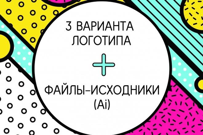 Три варианта логотипа в векторе + исходные файлы 9 - kwork.ru