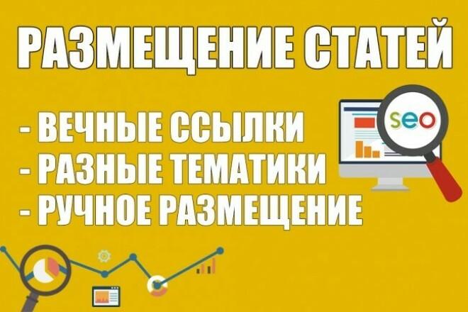 Размещу вручную 6 статей с вечными ссылками на 6 сайтах 1 - kwork.ru