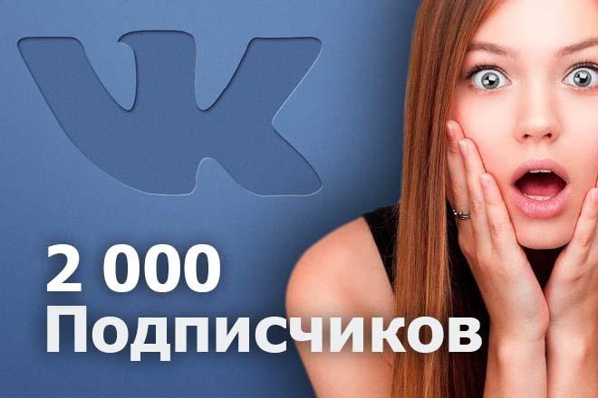 2000 не реальных подписчиков ВКонтакте в группу или на вашу страницу 1 - kwork.ru