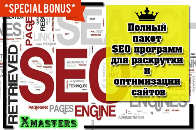 Полный пакет SEO программ для раскрутки и оптимизации сайтов 1 - kwork.ru