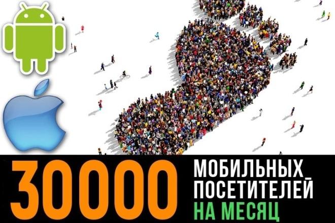 30000 мобильных посетителей на 30 дней 1 - kwork.ru