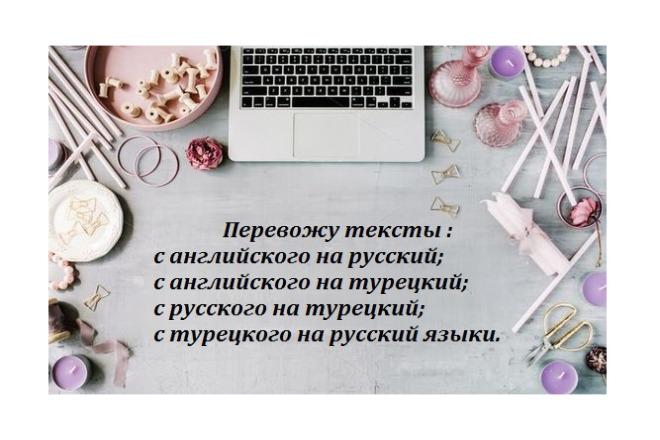 Текстовые переводы с английского, турецкого языков на русский язык 1 - kwork.ru